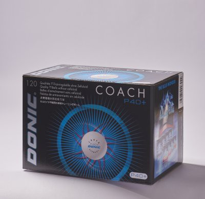 """DONIC """"Coach P40+ Cell-Free"""""""